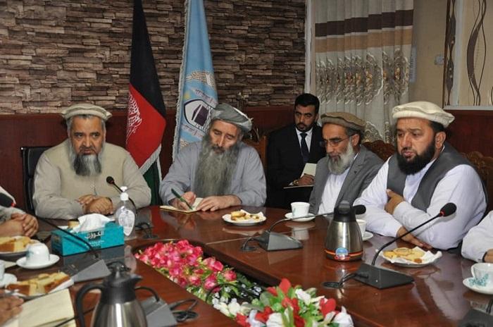 دیدار سرپرست وزارت ارشاد، حج واوقاف با رؤسای شورای علمای نواحی شهر کابل
