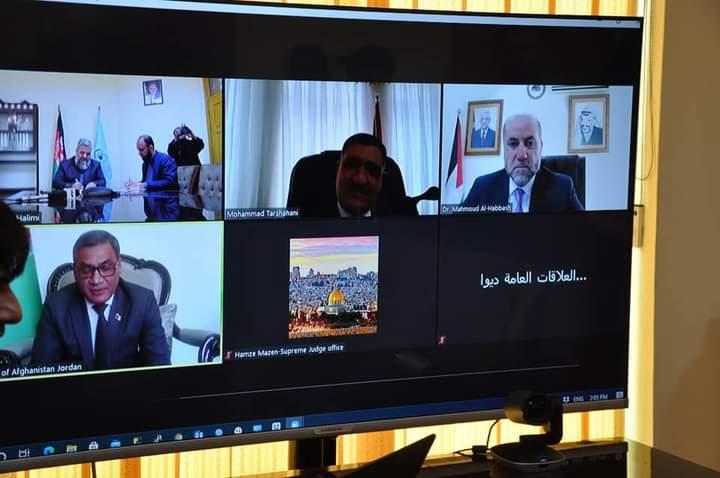 وزیر ارشاد، حج واوقاف با قاضی القضات فلسطین از طریق کنفرانس ویدیی صحبت نمود