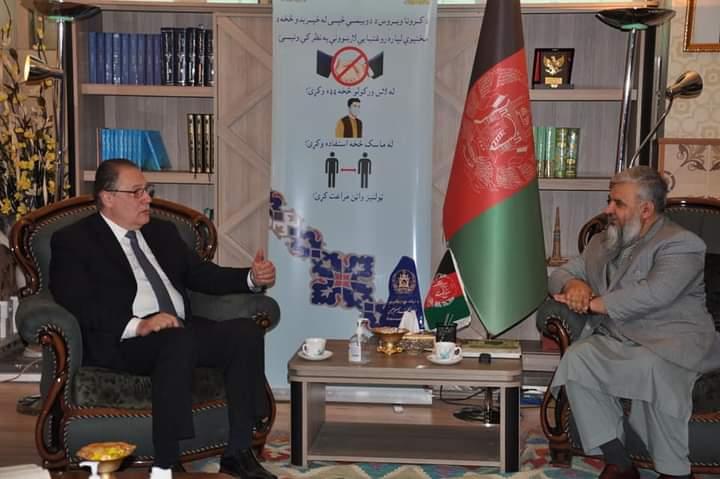 وزیر ارشاد، حج و اوقاف با نماینده برنامه توسعه یی سازمان ملل متحد در دفتر کارش ملاقات نمودند.