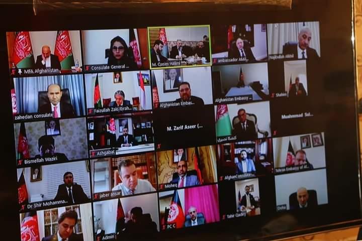 صحبت وزیر ارشاد حج و اوقاف با سفرای افغانستان در کشور های اسلامی