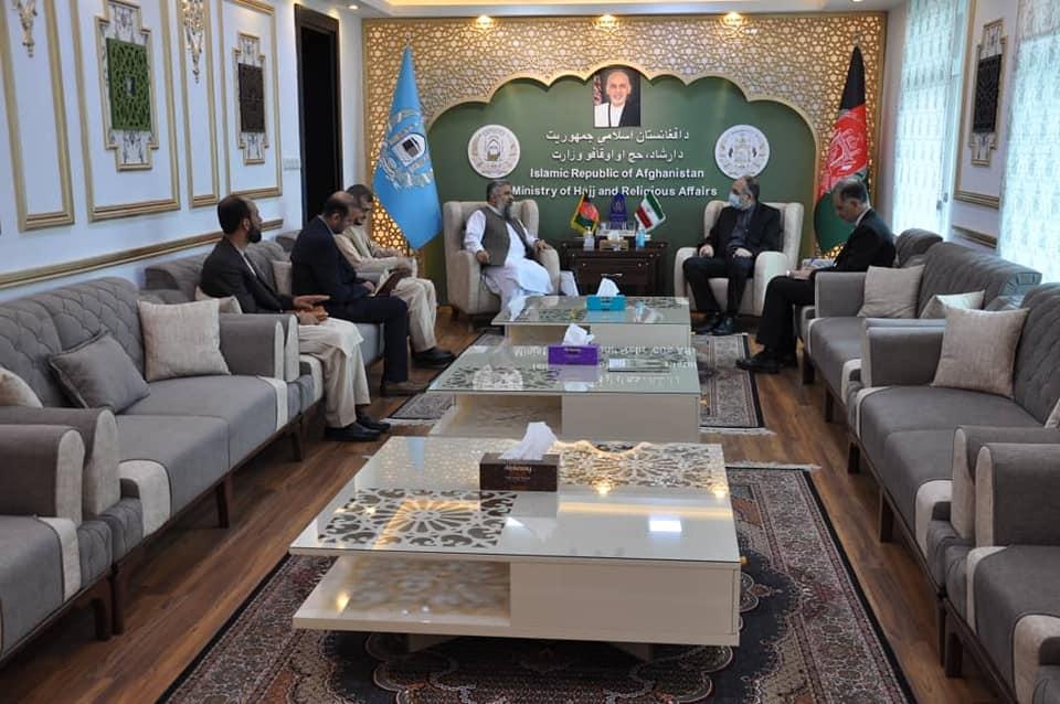 دیدار وزیر ارشاد، حج و اوقاف با سفیر کشور جمهوری اسلامی ایران در کابل